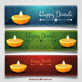 Diwali candle banners