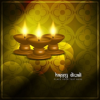 Diwali candles on a floral background