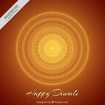 Diwali elegant decorative background with mandala