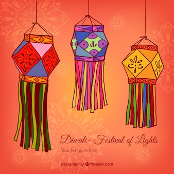 Diwali lanterns background