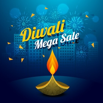 Diwali mega sale illustration