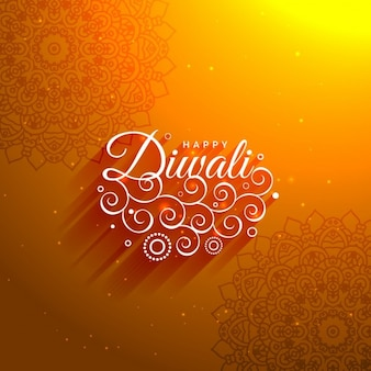 Diwali ornamental background with mandalas