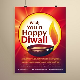 Diwali red glossy brochure