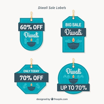 Diwali sale labels collection