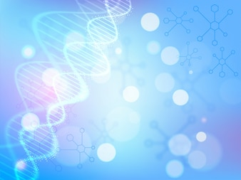DNA structure on abstract molecules background for Health and Medical concept.