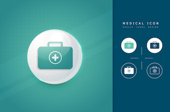 Doctor suitcase icon