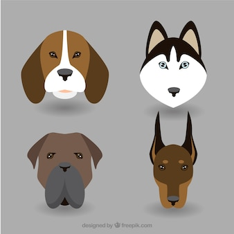 Dog breed avatars pack