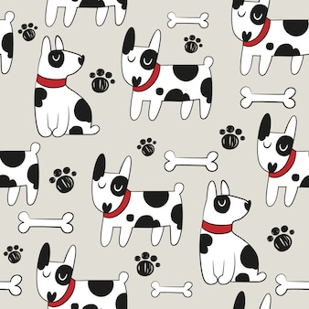 Dog pattern background