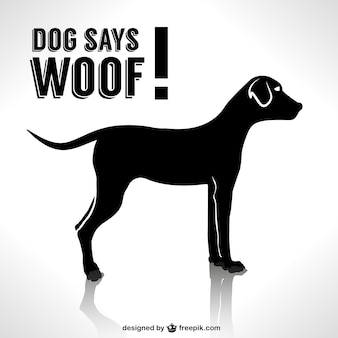 Dog silhouette vector design