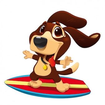 Dog surfing design