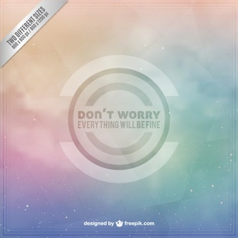 Don't worry background