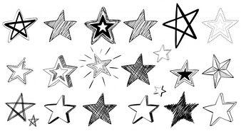 Doodle art for stars