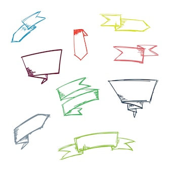 Doodle ribbon set