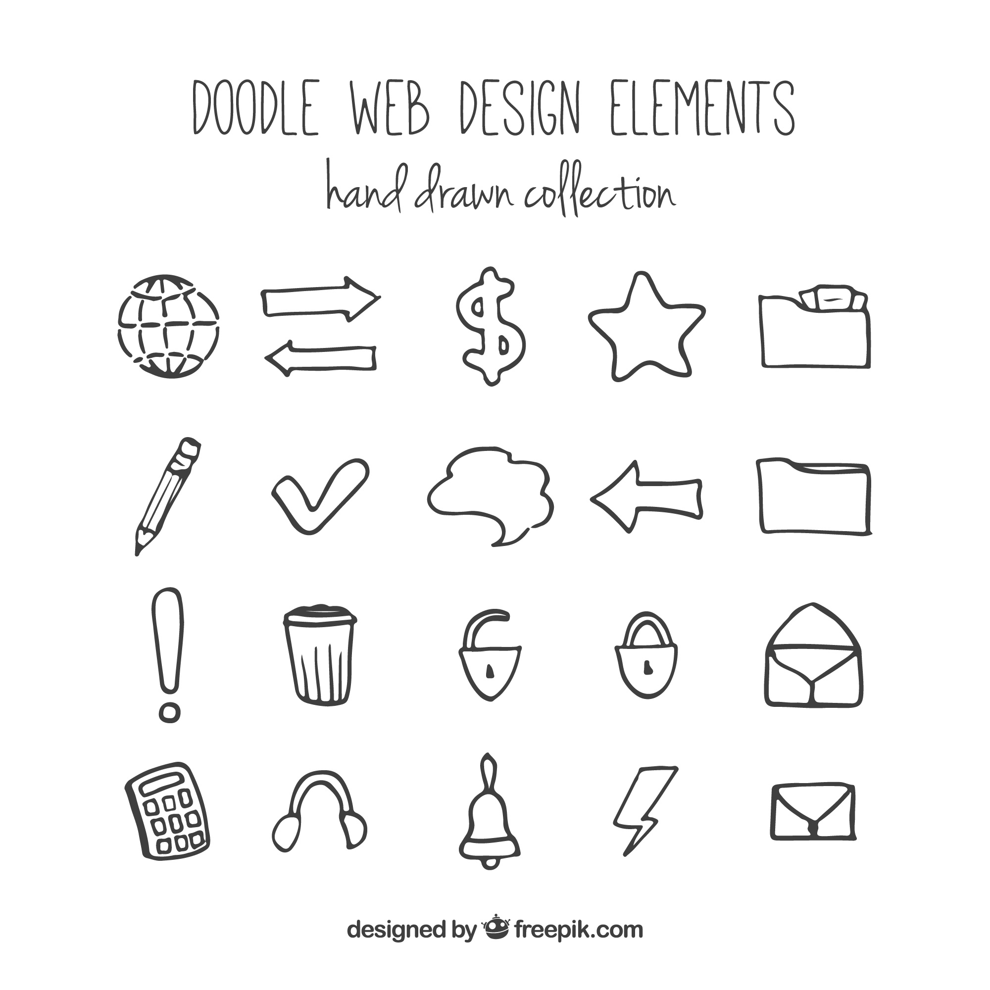 Web Elements vectors, +1,300 free files in .AI, .EPS, .SVG