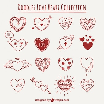 Doodles Heart Collection