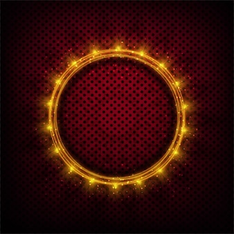 Dots background with a circle of lights