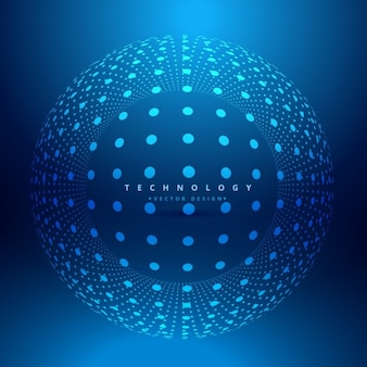 Dots sphere background