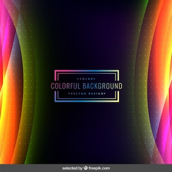 Dotted and wavy colorful background