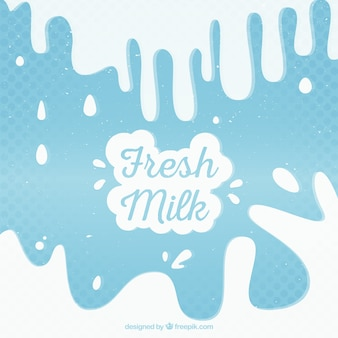 Dotted background of milk splashes in vintage style