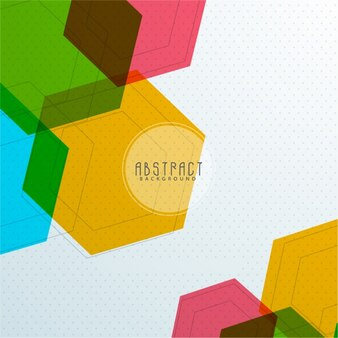 Dotted background with colorful hexagons