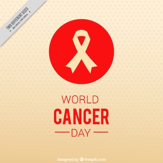 Dotted background with red details for world cancer day
