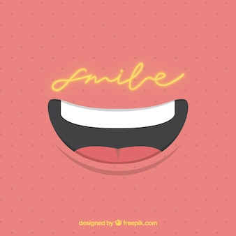 Dotted background with smile