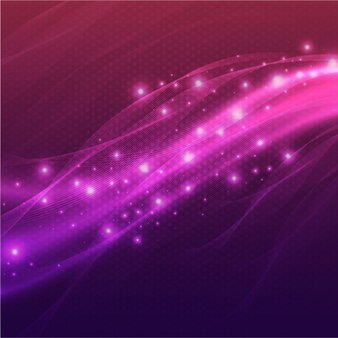 Dotted background with wavy shapes in purple tones
