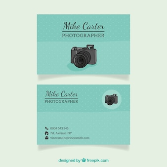 Dotted visiting card for photographer