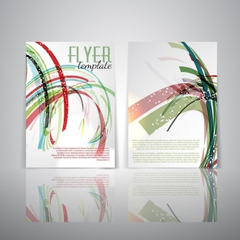 Double sided flyer template with abstract design
