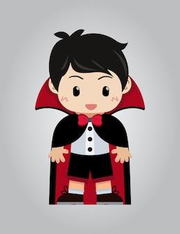 Dracula illustration background