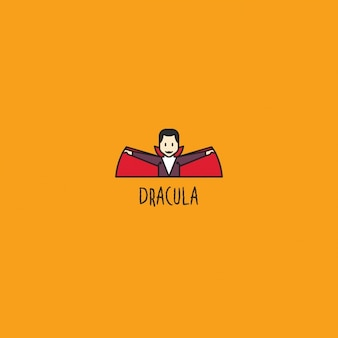 Dracula logo on orange background