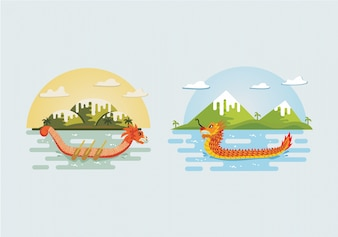 Dragon boat festival background collection