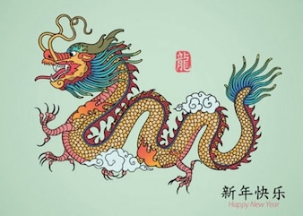 Dragon graphic with claws oriental vector