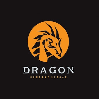 Dragon shape logo template