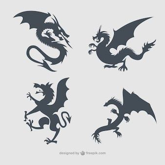 Dragons silhouettes collection