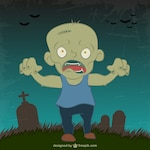 Drawing of zombie in halloween