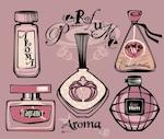 Drawing perfume bottles