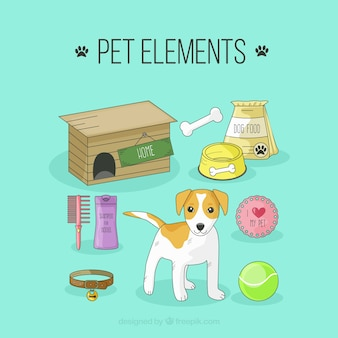 Drawings dog elements pack