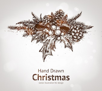 Drawn christmas stem strobile new