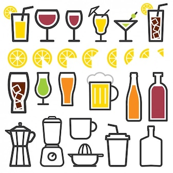 Drink elements icons