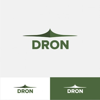 Dron logo in green color