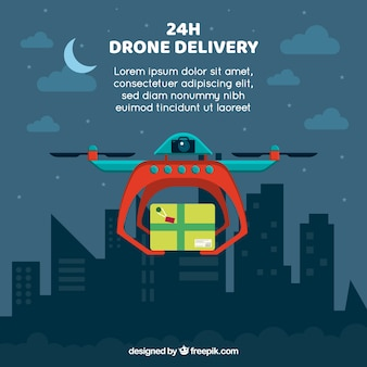Drone delivery at night