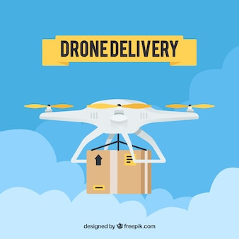 Drone delivery with cute style