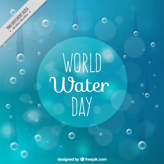 Droplet World Water Day background