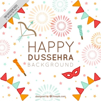 Dussehra background with party items
