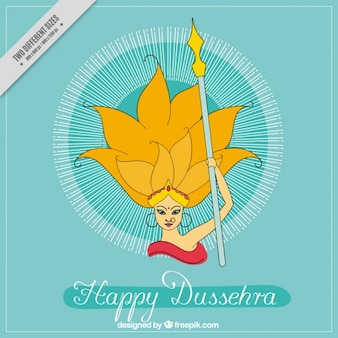 Dussehra background with victory of rama drawing