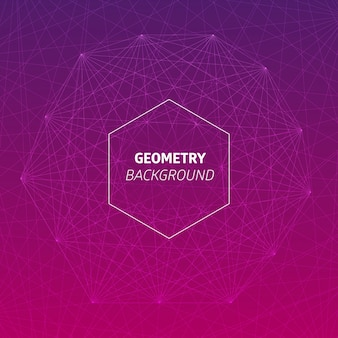 Dynamic geometric background with a hexagon