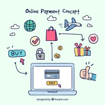 E-commerce, hand-drawn items