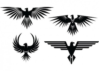 Eagle tattoos with spread wings