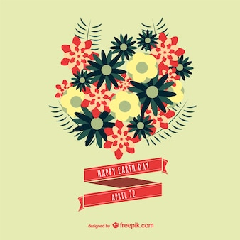 Earth day floral vector image